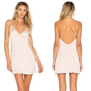 Lovers + Friends Pink Mini Satin Slip Dress